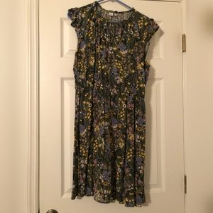 Pretty Floral Midi Dress, Size Large